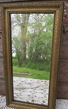 Antique Old Wood Mirror Frame with Etched  Mirror  Hiram Anderson