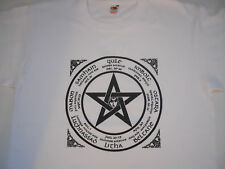 PAGAN   THE  WHEEL  OF  THE  YEAR  WHITE   LARGE   NEW   ( WITCHES  )   T  SHIRT