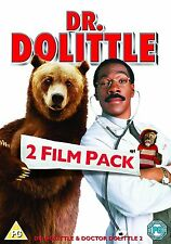 Dr Dolittle 1 and 2 Double Pack DVD Doctor Eddie Murphy New Sealed UK Release R2