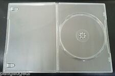 200 CLEAR  DOUBLE 7mm SLIMLINE DVD/CD CASES WITH SLEEVE- Side by Side