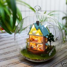 DIY Handgefertigte Miniatur-projekt Set Puppenhaus Lichter My Pink Kleine House