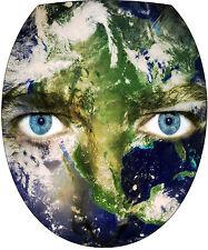 Adhesivo tapa de WC decoración Ojos Planeta 35x42cm Ref 2141