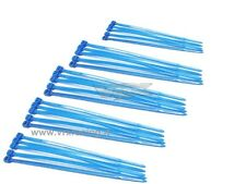 25 FASCETTE CABLAGGIO PLASTICA NYLON COLORATE BLU CABLE TIES 25PZ 100mm VRX