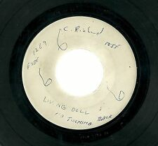 "CLIFF RICHARD - Living Doll No Turning Back White Label 7"" 45 Test Press/Demo?"
