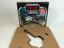 Reproduction vintage star wars revenge of the jedi prototype x-wing box + inserts