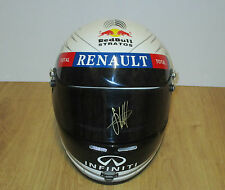 SEBASTIAN VETTEL HAND SIGNED FULL SIZE RED BULL F1 HELMET (VISOR) + PHOTO PROOF