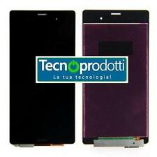 TOUCH SCREEN VETRO + LCD DISPLAY SONY Xperia Z3 D6603 BIANCO o NERO BIADESIVO