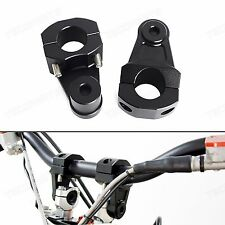 Black 1 1/8'' 28mm Pivoting CNC Handlebar Riser Clamp for BMW R1200GS 2004-2012