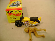 1974 MATCHBOX LESNEY SUPERFAST #18 YELLOW HONDA HONDARORA NEW IN BOX