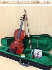 Brand New Caraya 1/2 Violin+Bow,Rosin,Chin-rest,Spare Strings,Foam hard case