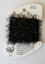 Rainbow Gallery Arctic Rays embroidery thread Black AR1 wispy fringe