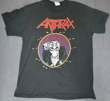 Vintage OG Anthrax 1989 T Shirt Not Man Thrash Metal XL Don't You Look At Me