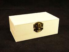SMALL Plain Legno Storage PORTAGIOIE portagioie con coperchio DECOUPAGE artigianale