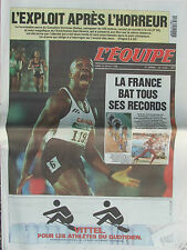 L'Equipe du 29/7/1996 - J.O Atlanta : Bailey - Devers - La France bat ses record