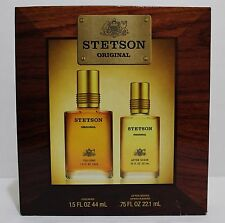 STETSON ORIGINAL Men Gift Set Cologne After Shave Perfume Fragrance NIB