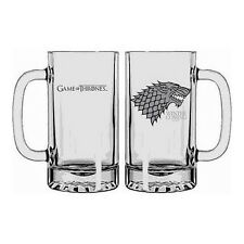 "Chope en verre Game of Thrones : Stark ""Winter is Coming"" (Neuf)"