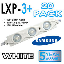20 x LXP-3+ samsung 5630 led signe des modules 160 ° injection moulé-blanc