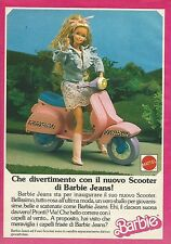 X1108 BARBIE - Il nuovo scooter di Barbie Jeans - Mattel - Pubblicità 1989
