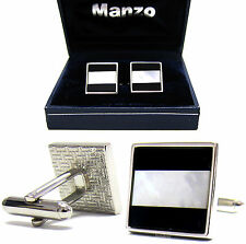 New Men's Cufflinks Cuff Link Square Mother of Pearl Wedding Formal Prom #05