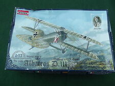RODEN WW 1 ALBATROS D. III AS FLOWN BY JOSEF KISS 1:72 SCALE MODEL KIT