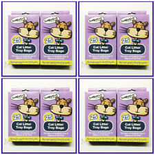 8XPACKS=200 BAGS OF CAT LITTER TRAY LINERS/EASY & HYGIENIC PETS WASTE DISPOSAL