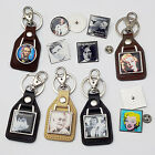 FAMOUS PEOPLE / CELEBRITIES - Historical... - Leather KEYRING & TIE PIN / BADGES