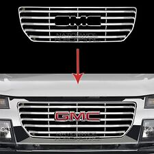 2004-2012 GMC Canyon CHROME Snap On Grille Overlay Front Grill Cover Trim Insert