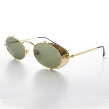 Side Shield Steampunk Goggle Sunglasses Vintage Gold-Orson