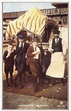Postcard Nostalgia c1905 Kings Cross London Ice Cream Vendor Reproduction Card