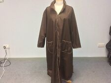 Heteroclite Brown Mac, Zipped - Size Medium (approx 16) Free Post!