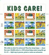 EARTH DAY, KIDS CARE , SHEET , PANE OF 16