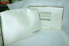 COCO MADEMOISELLE CHANEL WHT & BLK  SIGNATURE MAKEUP TRAVEL BAG NEW WITH BOX