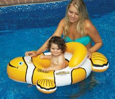 NEW Swimline Clownfish Baby Seat 90254 Inflatable Pool Water Learn to Swim Toy