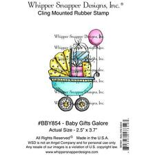 WHIPPER SNAPPER BABY GIFT BUGGY SHOWER CLING RUBBER STAMP