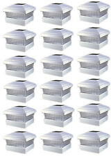 "PL245 5""X5"" Outdoor Garden Solar LED White Post Cap Fence Square Lights 18-Pack"