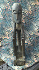 African Carving Wooden Statue Folk Art Primitive Style Figure