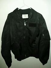 vintege Men's black CWU-55P Jacket Flyer's Cold Weather XL made in israel nice