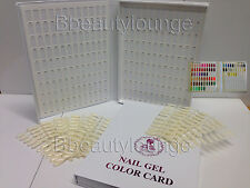 212 NAIL TIP COLOUR CHART DISPLAY BOOK WITH TIPS FOR UV/LED VARNISH & GELPOLISH