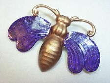 PURPLE BUG BROOCH PIN Vintage Style