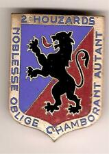 ABC    2°HUSSARDS   TARBES    Armée d'Armistice    Dr. dép.  émaux  grands  feux