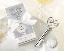 24 Key To My Heart Bottle Opener Victorian Style Wedding favors Bridal Shower