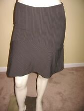 bebe Women's Brown StripeTiered A-line Skirt Size 0