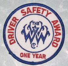 The WWW Driver Safety Award One Year Patch (iron-on)