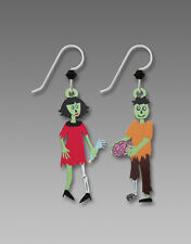 Sienna Sky ZOMBIE Couple EARRINGS STERLING Silver Halloween Fall Dangle - Boxed
