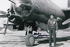 Bob Hoover Signed 4x6 Inch Photo WW2 World War II Air Force B-26 Chuck Yeager