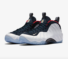 Nike Air Foamposite 1 Premium Men's Size 13 White/Blue/Red 575420-400 Olympic