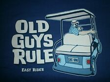 "OLD GUYS RULE "" EASY RIDER "" "" CART KING "" GOLF BAG COLOR METRO BLUE SIZE XL"