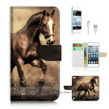 iPod Touch 5 iTouch 5 Flip Wallet Case Cover! S8363 Horse