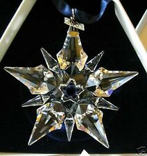 2001 Swarovski~Snowflake STAR Annual Christmas ORNAMENT ~ Large~ Triangle Box