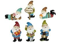 Miniature Dollhouse FAIRY GARDEN ~ Fairy Tale Standing Gnomes – Set of 6 ~ NEW